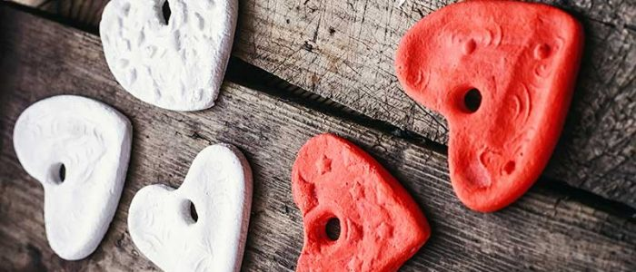 salt dough hearts